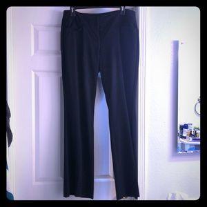 Black Straight Leg Elle Work Pants